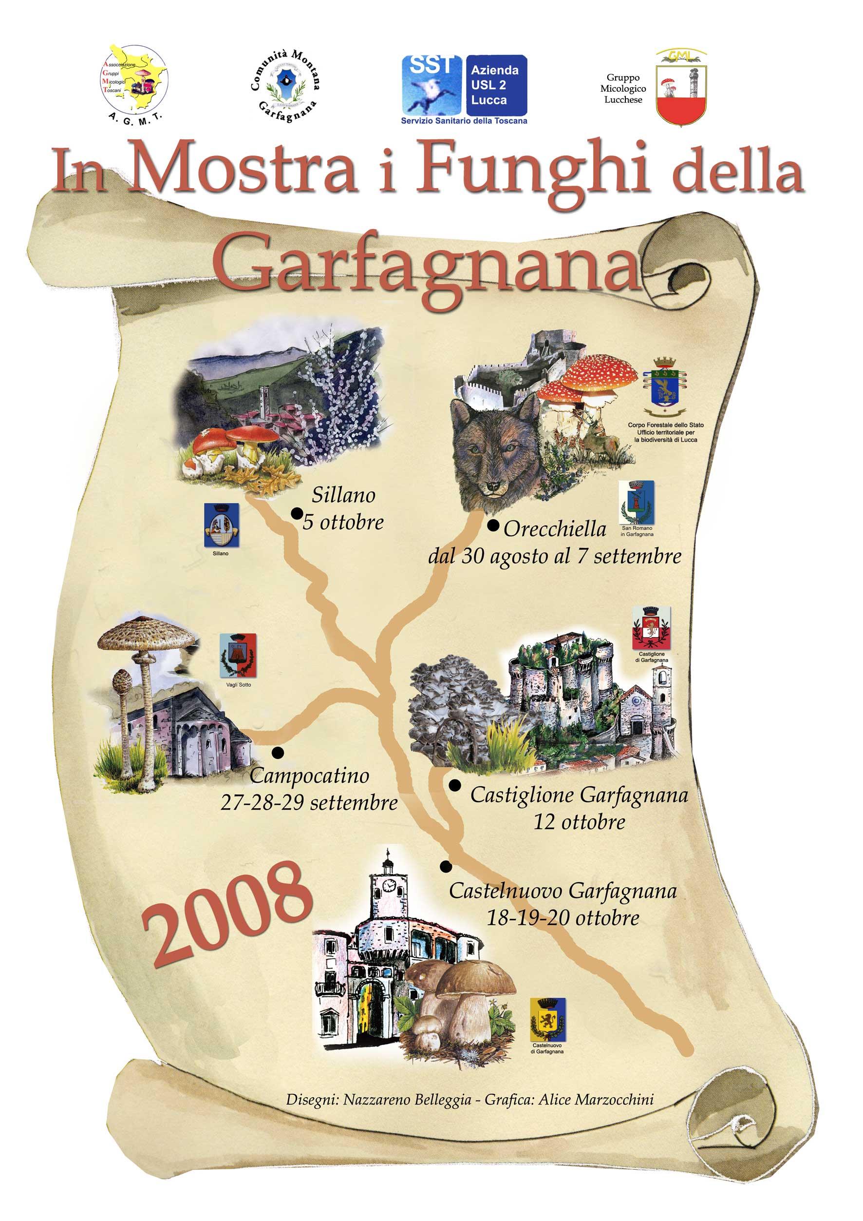 Calendario Funghi.Funghi Unione Comuni Garfagnana