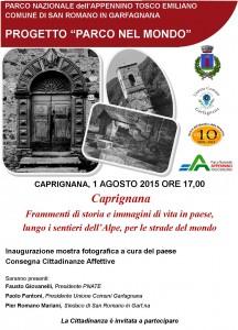manifesto caprignana